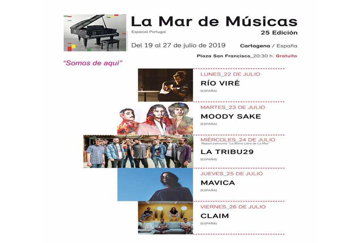 conciertos gratuitos la mar de músicas 2019 en plaza San Francisco