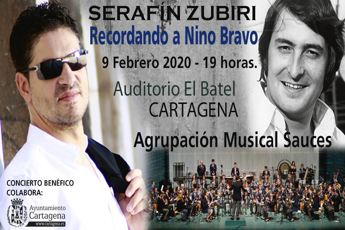 Concierto de la Agrupación Musical Sauces de Cartagena y Serafín Zubiri en homenaje a Nino Bravo