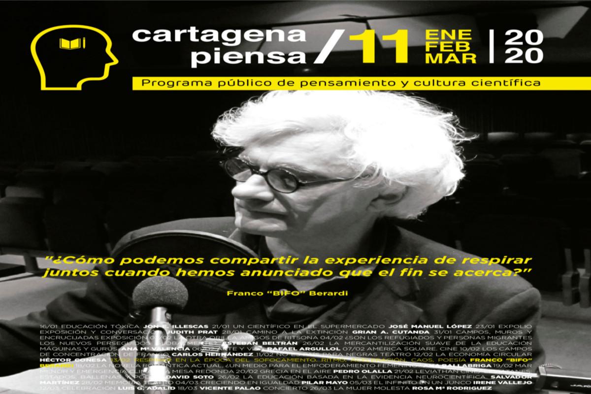 Charla - Debate: RESPIRAR EN LA ÉPOCA DEL SOFOCAMIENTO. RITMO, ACELERACIÓN, CAOS, POESÍA. Franco Bifo Berardi